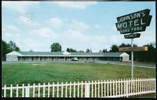 WARRENTON VA Johnson's Motel Vintage Car 1956 Postcard Old Virginia PC