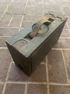 ANTIQUE VINTAGE WW 1 WOODEN AMMO BOX