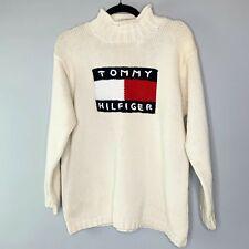 New listing Tommy Hilfiger Vtg Turtleneck Large Logo Sweater