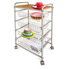 Casa Pura Sevilla 5 Etagen Küchenwagen Küchenregal Küchenrollwagen Allzweckwagen