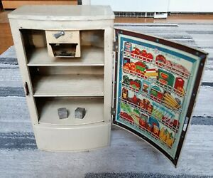 Vintage Wolverine Tin Lithograph Toy Polar Refrigerator