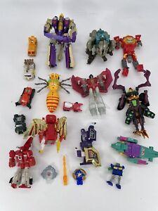 Vintage Transformers Robot Toy Lot (16) Go Bots