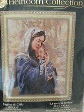 Bucilla Heirloom Mother & Child Counted Cross Stitch Kit #45436 Madonna Jesus