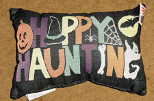 Happy Haunting Halloween Tapestry Word Pillow