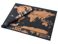 Scratchable Mappa del mondo Poster 82.5 x 59.5 cm | Scratch Off si avventure in viaggio