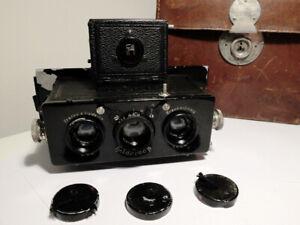 HEIDOSCOP Franke & Haidecke Stereo Camera Serial N°744 First Batch 1921