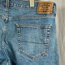 Signature Levi Strauss Gold Relaxed Men's 35x30 Denim Jeans Medium Wash Pockets