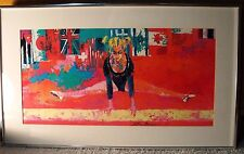 LeRoy Neiman ~ 1976 OLYMPIC FEMALE GYMNAST – MATTED & FRAMED POSTER