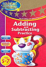 IMPARA aggiunta e sottrazione pratica: KEY STAGE 1 5-7 Attività Sticker Libro Nuovo