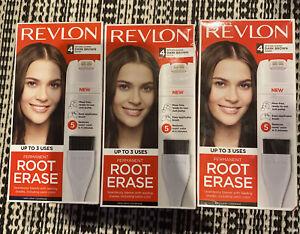 3 Revlon Root Erase Permanent Hair Color, Root Touchup Hair Dye, Dark Brown, #4