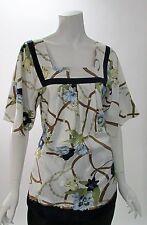 YASB 100% Silk Floral Back Tie Kimono Sleeve Top NWT SZ 1X