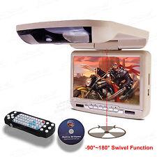 Beige 9 Zoll KFZ  Auto Deckenmonitor DVD Player USB SD Lautsprecher 120°