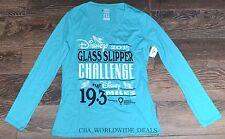 NEW Disney Princess Marathon 2015 Glass Slipper Challenge Long Sleeve Shirt - S