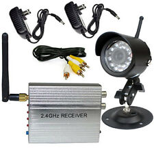 2.4G Wireless Home Security CCTV System +24LEDs Waterproof Outdoor Video Camera