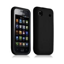 Housse etui coque en silicone pour Samsung Galaxy S i9000 couleur noir