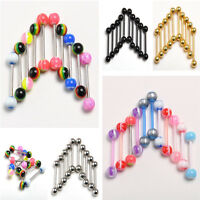 Women Sexy Ball Tongue Navel Nipple Barbell Rings Bars Body Jewelry Piercing 10X
