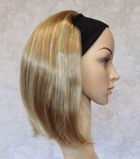 Short Straight Silky Dark Blonde Highlighted Straight Bob Headband Wig - 9297