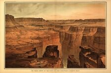 The Grand Canyon at the foot of the Toroweap Az c1882 repro 36x24