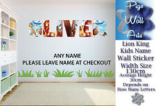 Lion King wall art sticker ANY NAME Wall Sticker Children's Bedroom xx Large.