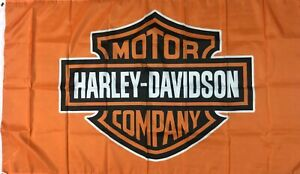 Harley Davidson Fahne 150 x 90 cm Orange Route 66 USA Amerika Road Glide Iron