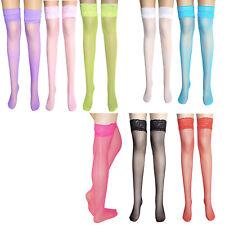 ladies anti-slip fishnet holdup with lace back seam suspender stockings 8 colour