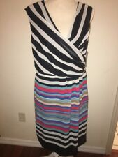 NWT Shelby & Palmer Size 16 Multicolor Striped Sleeveless Zip Up Dress