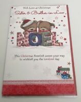 """Christmas Greeting Card For Brother And Sister-in-law Large Card 6x9"""""""
