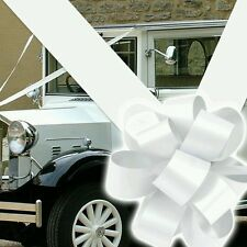 RIBBON AND BOW DECORATION  FOR WEDDING CAR.(LARGE BOWS 1- 3 or 5) AND 8M RIBBON