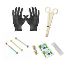Professional Industrial Barbell Piercing Kit 12-Pieces Scaffolding 14G 38MM