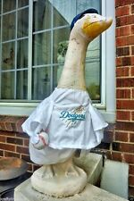 GOOSE CLOTHES 4 LAWN GOOSE LOS ANGELES DODGERS BASEBALL  Garden Decor White