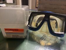 New listing SCUBAPRO Quad Vision Crystal / Blue  24-081-000 Used some yellowing on rubber