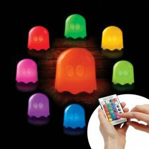 Pac Man Ghost Mood Light Colour Changing Moodlight Bedroom Bedside Table Lamp