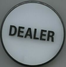 """Large 3""""  DEALER BUTTON PUCK - White on one side - Black on the other"""
