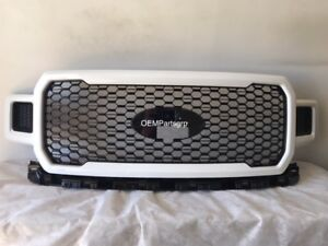 2018-2020 Ford F-150 Factory OEM Honeycomb Grille-Oxford White JL3Z-8200-SB