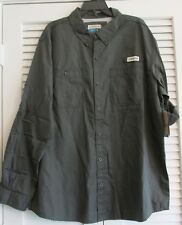 PADRE ISLAND FISHING SHIRT L/S DARK SHADOW GRAY XL  (8)
