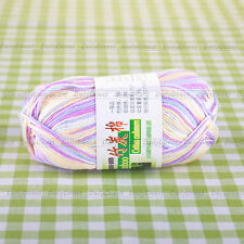 Wrosted 50g Skein Super Soft Natural Bamboo Cotton Knitting Yarn Lace -25 Colors