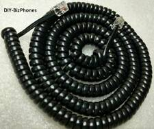 Black 25 Ft LONG Generic Phone Handset Cord Wall Curly Coil Receiver Telephone