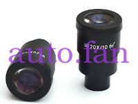 New Pair WF 20X EYEPIECE FOR NIKON OLYMPUS LEICA ZEISS STEREO MICROSCOPE 30MM