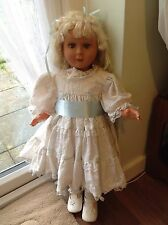 "Large Vintage Fashion Toddler DOLL Lifesize 29"" Tall Bisque Weighted Eyes"
