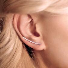 """Long ear climbers """"Line Ear Climber"""" silver bar ear climber everyday ear crawler"""