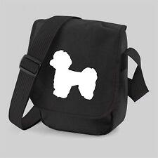 More details for maltese dog bag silhouette messenger shoulder bags birthday gift maltese dog