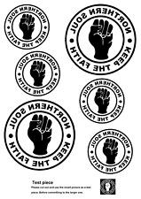 Northern Soul, pequeño logo, Hierro en T-Shirt Transferencia para Camisetas Blanco