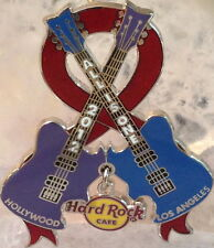 Hard Rock Cafe HOLLYWOOD 2012 LA UNITED PIN Aids Walk Guitars Ribbon HRC #66111