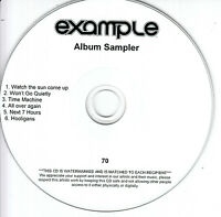 EXAMPLE Won't Go Quietly Sampler 2010 UK 6 tk watermarked/numbered promo test CD
