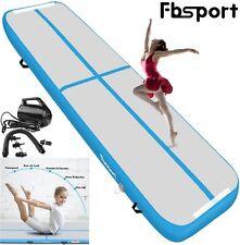 Blue 10ft Inflatable Air Gym Mat Track Tumbling Floor Gymnastics Mat + Pump