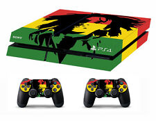 PS4 vinyl Skin Stickers bob marley style for Console & 2 controllers