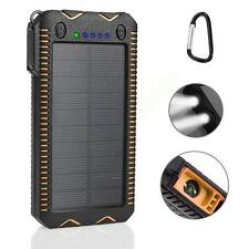 12000 mAh Portable Waterproof Solar Charger Dual USB External Battery Power Bank