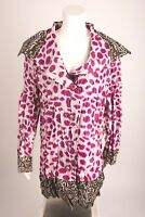 UBU Women's Jacket Raincoat Large Reversible Pink Leopard Cheetah New With Tags