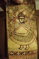 ETHIOPIAN VELLUM COPTIC SCROLL, GE'EZ WRITING. EX-MUSEUM COLLECTION