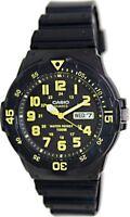 Casio MRW200H-9B 100M Black Diver Classic Sports Watch Resin Band YELLOW New